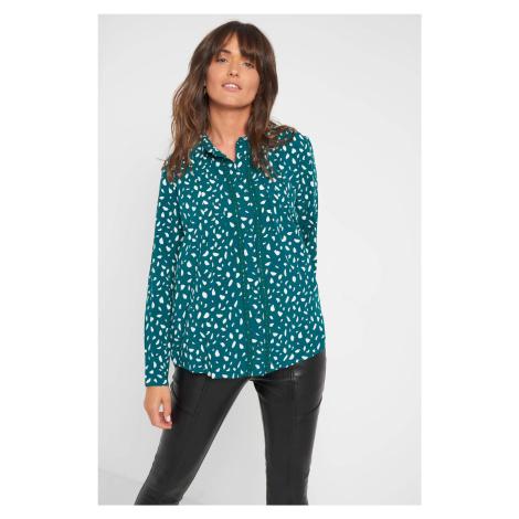 Wiskozowa koszula ze wzorem Orsay