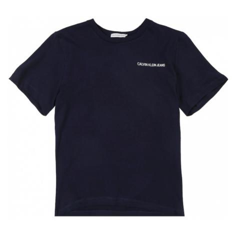 Calvin Klein Jeans Koszulka 'CHEST LOGO REGULAR T' granatowy