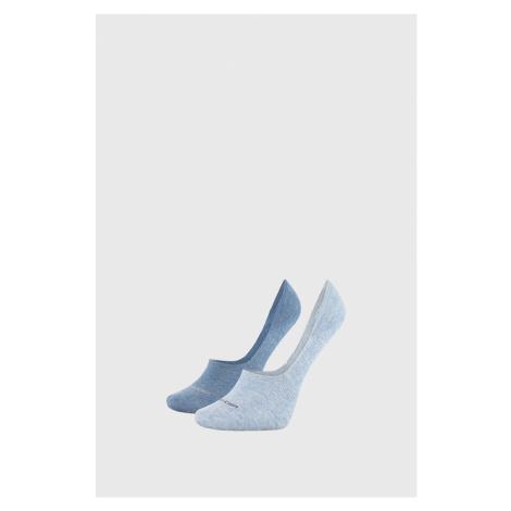 2 PACK damskich skarpetek Calvin Klein Jessica niebieskie