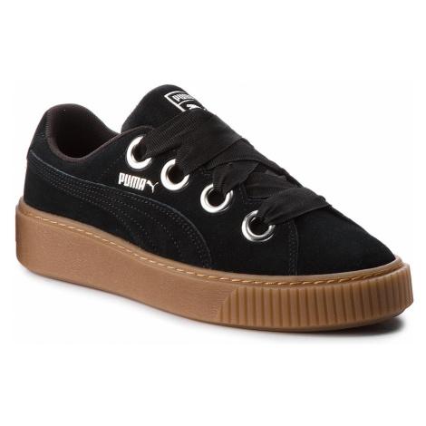 Sneakersy PUMA - Platform Kiss Suede 366461 01 Puma Black/Puma Silver