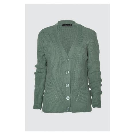 Trendyol Mint Knitted Detailed Knitwear Cardigan