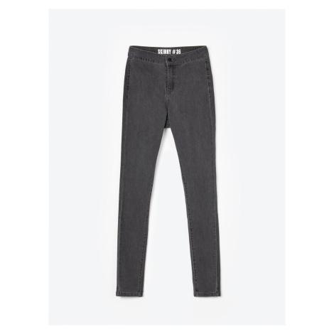 GATE Basic jeansy skinny z wysokim stanem