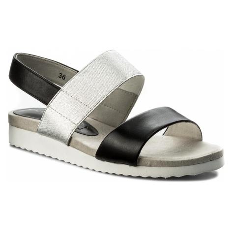 Sandały CAPRICE - 9-28608-20 Black/Silver 077