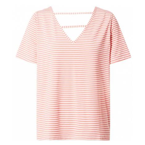 VERO MODA Koszulka 'Polly' biały / łososiowy