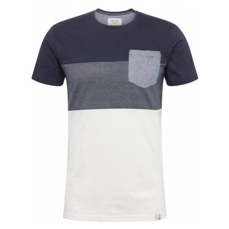 INDICODE JEANS Koszulka 'Clemens' granatowy / biały