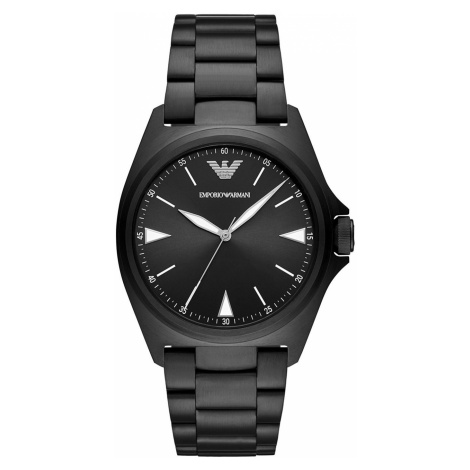 Zegarek EMPORIO ARMANI - Men's Stainless Steel Three-Hand Watch AR11257 Black