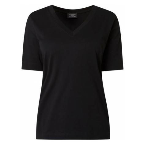 T-shirt z bawełny ekologicznej model 'Standard' Selected