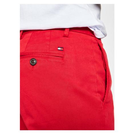 TOMMY HILFIGER Spodnie materiałowe Denton Flex Satin Chino MW0MW13286 Czerwony Straight Fit