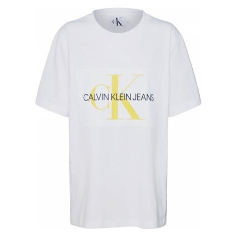 Calvin Klein Jeans Koszulka żółty / czarny / biały