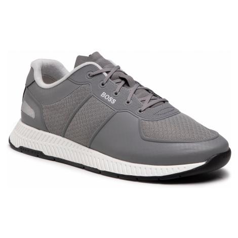 Sneakersy BOSS - Titanium 50452025 030 Medium Grey Hugo Boss