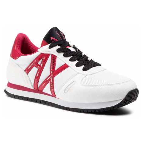 Sneakersy ARMANI EXCHANGE - XDX031 XCC62 M477 Off White/Red