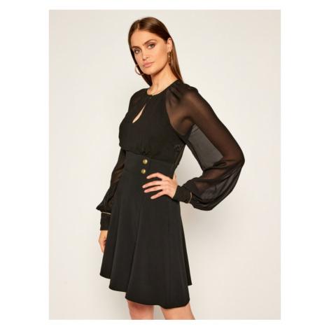 Pinko Sukienka koktajlowa Romeo AI 20-21 BLK0 1G150H Y6DR Czarny Regular Fit