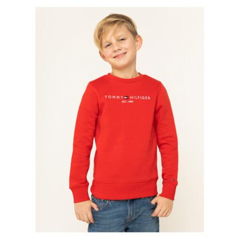 TOMMY HILFIGER Bluza Essentian Cn Sweatshirt Set KB0KB05056 Czerwony Regular Fit