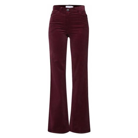 Calvin Klein Spodnie 'CORDUROY' ciemnoczerwony