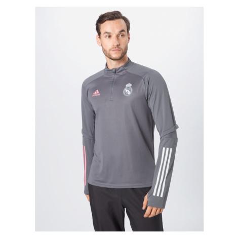 ADIDAS PERFORMANCE Bluzka sportowa 'Real Madrid' różowy / biały / szary