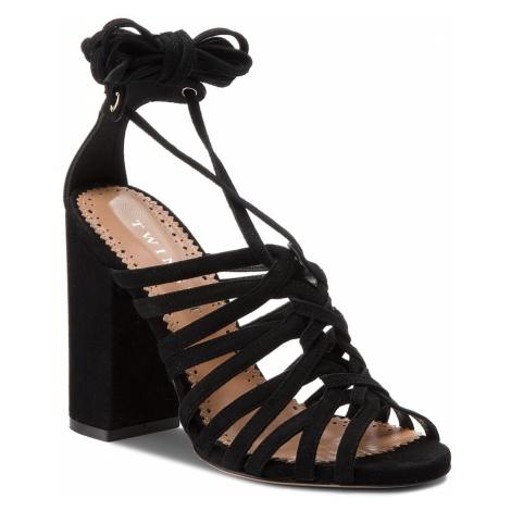 Sandały TWINSET - Sandalo CS8TDL Nero 00006