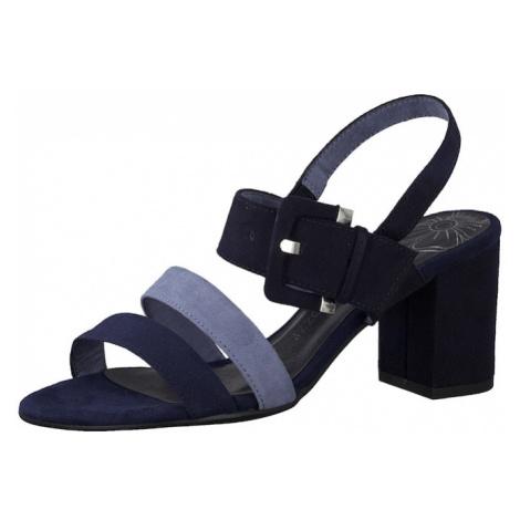 MARCO TOZZI Sandały z rzemykami jasnoniebieski / ciemny niebieski