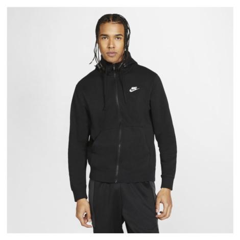 Męska bluza z kapturem i zamkiem na całej długości Nike Sportswear Club Fleece - Czerń