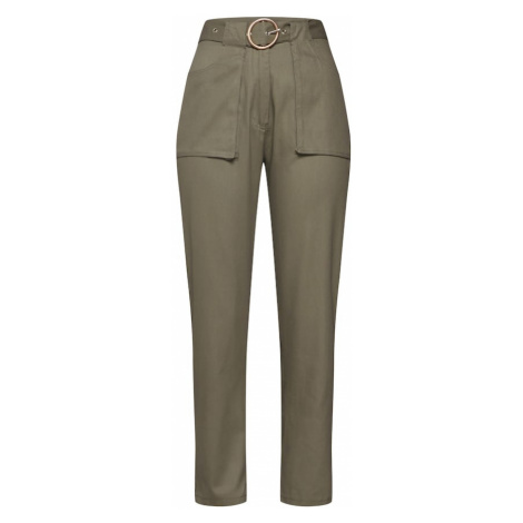 Missguided Spodnie 'POCKET CIRCLE BELT CIGARETTE' khaki