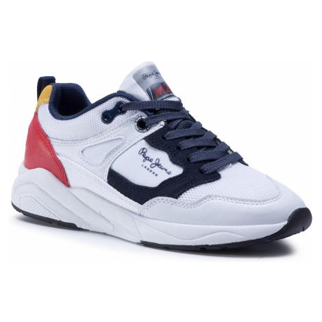 Sneakersy PEPE JEANS - Orbital Junior Boys PBS30440 White 8000