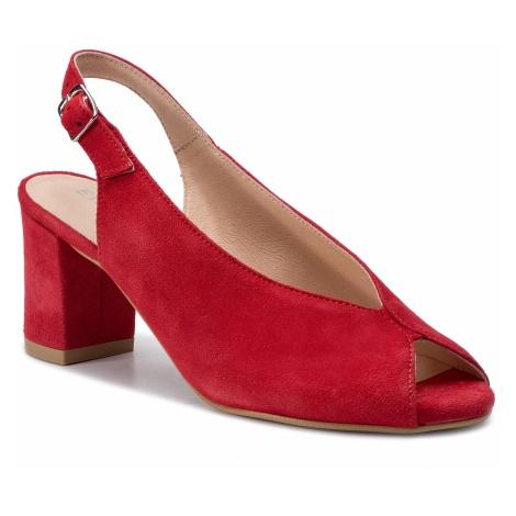 Sandały EKSBUT - 39-5471-180-1G Czerwony