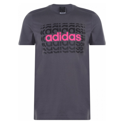 Adidas Repeat Linea T Shirt Mens