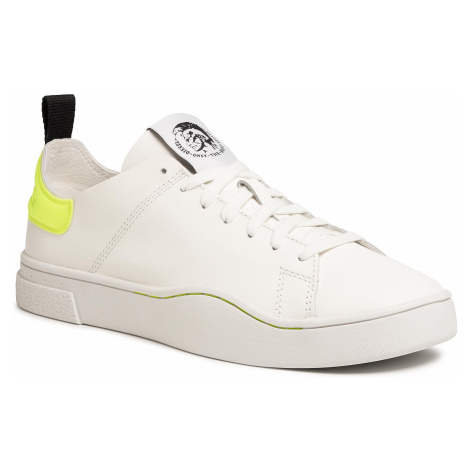 Sneakersy DIESEL - S-Clever Ls Y01983 P3144 H7328 Star White/Yellow Fl