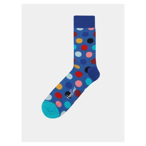 Niebieskie skarpetki w kropki Happy Socks Big Dot