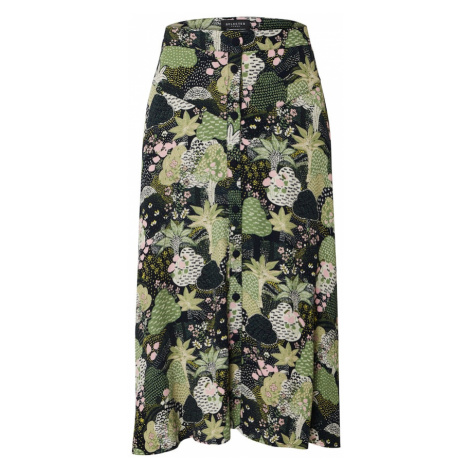 SELECTED FEMME Spódnica trawa zielona / szary