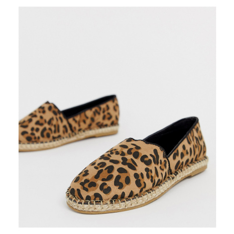 Truffle Collection wide fit leopard espadrille