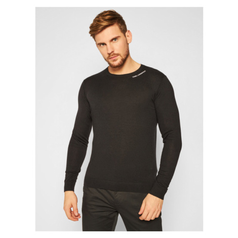KARL LAGERFELD Sweter Crewneck 655041 502306 Czarny Regular Fit