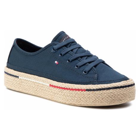 Espadryle TOMMY HILFIGER - Flatform Rope Sneaker FW0FW04995 Sport Navy DB9