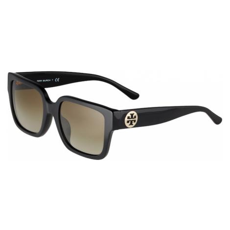 Tory Burch Okulary przeciwsłoneczne czarny / brązowy