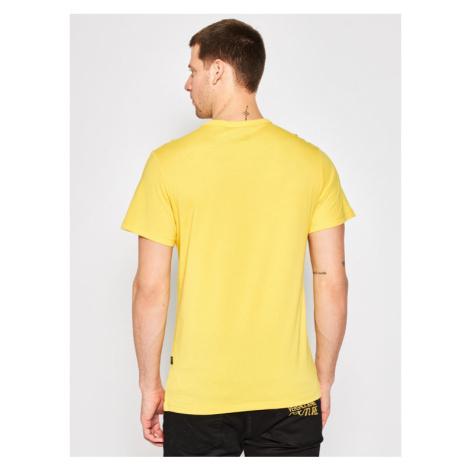 G-Star Raw T-Shirt Originals Logo Gr D16377-336-188 Żółty Regular Fit