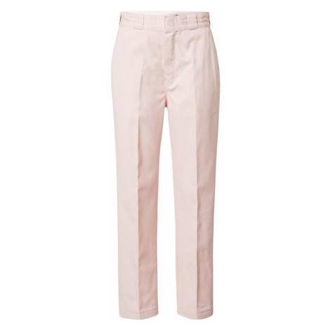 DICKIES Spodnie w kant różowy