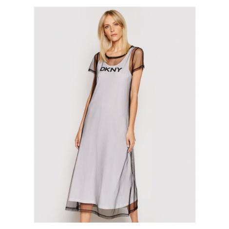 DKNY Sukienka codzienna P0DD7FKC Biały Regular Fit