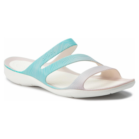 Klapki CROCS - Swiftwater Seasonal Sandal W 205637 Pool Ombre/White