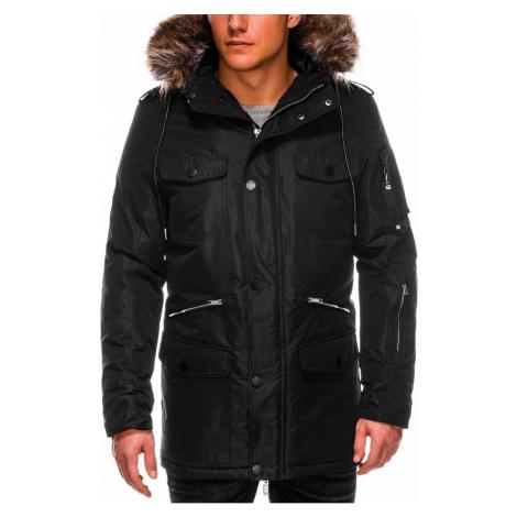 Ombre Clothing Men's winter parka jacket C410