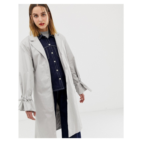 2NDDAY longline trench coat