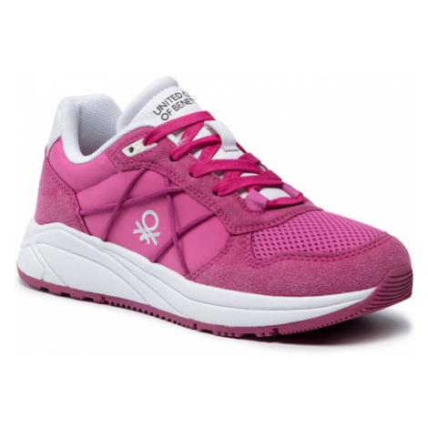United Colors Of Benetton Sneakersy Ascent BTW117306 Różowy