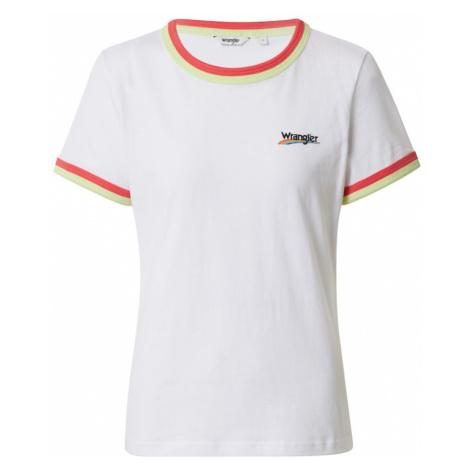 WRANGLER Koszulka 'Double Ringer Tee' biały