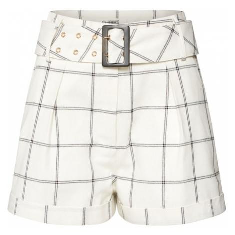4th & Reckless Spodnie 'CORIN SHORT' czarny / biały