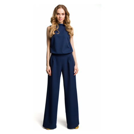 Made Of Emotion Woman's Jumpsuit M382 Navy Blue