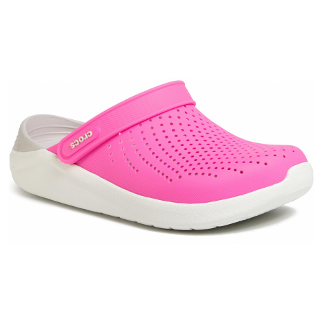 Klapki CROCS - Literide Clog 204592 Electric Pink/Almost White