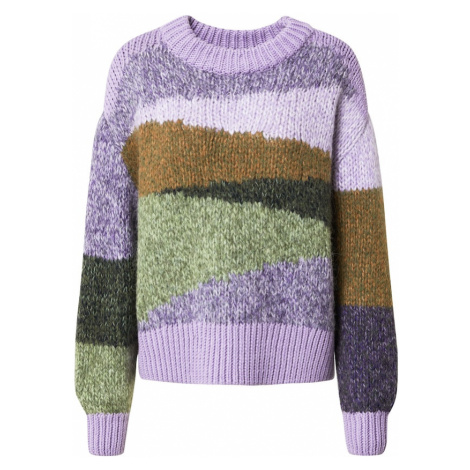 Marc O'Polo DENIM Sweter jasnofioletowy / mieszane kolory