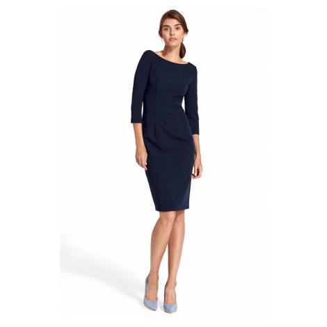 Nife Woman's Dress S100 Navy Blue