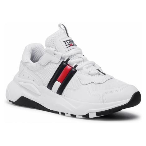 Sneakersy TOMMY JEANS - Cool Runner EN0EN00984 White YBR Tommy Hilfiger