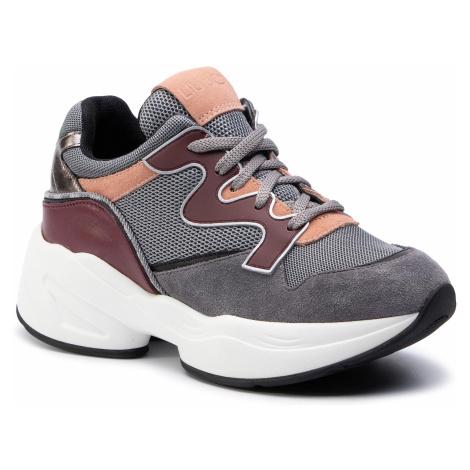 Sneakersy LIU JO - Jog 09 B69041 PX044 Grey/Pordeaux S1008