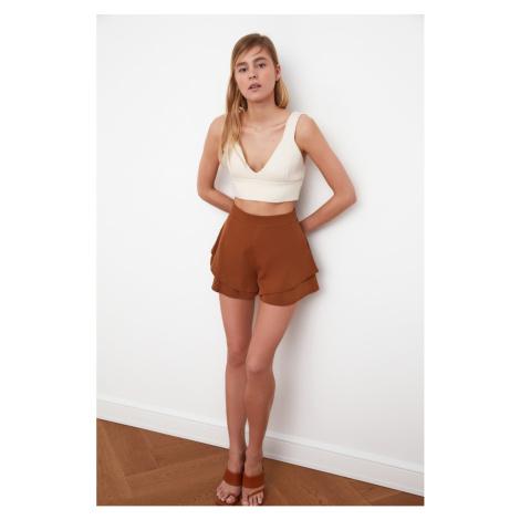 Szorty damskie Trendyol Skirt-Looking Shorts