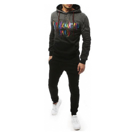 Gray and black men's tracksuit AX0255 DStreet